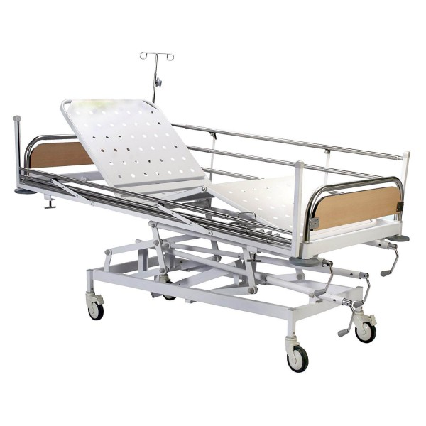 VMS ICU Bed with removable stainless steel head & foot bow with laminated panel