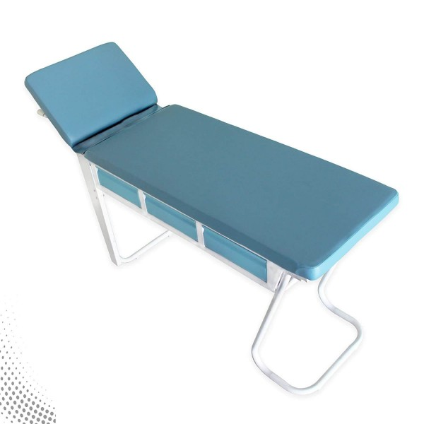 VMS Patient Examination Couch (Head Adjustment and Drawers)
