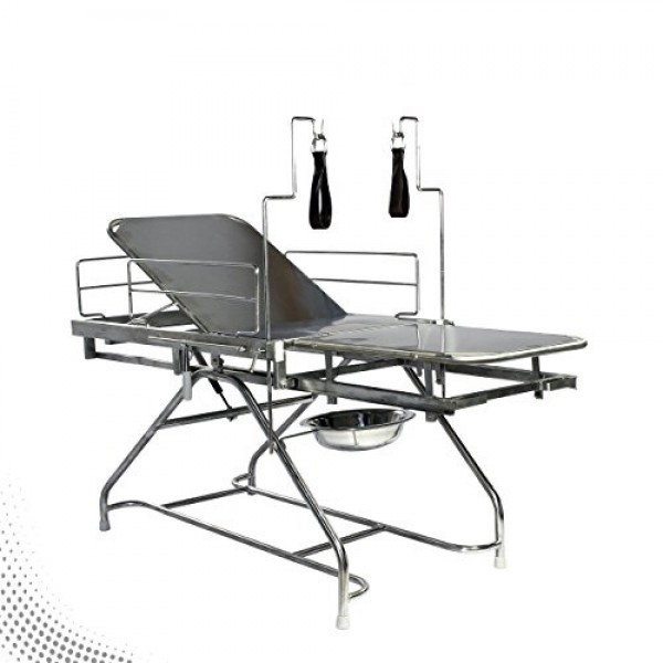 Vms Obstetric Labour Table Ms Framework & Ss Table Top With Lithotomy Rods