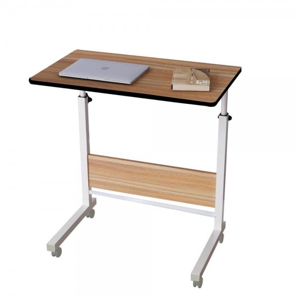 VMS Office Buddy Adjustable Bedside Portable Table Cart Tray with Adjustable Height, Studying Overbed Breakfast and Sofa Table