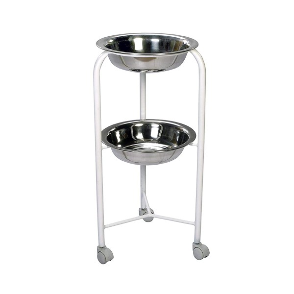 VMS Bowl Stand Double MS Framework and SS Bowls