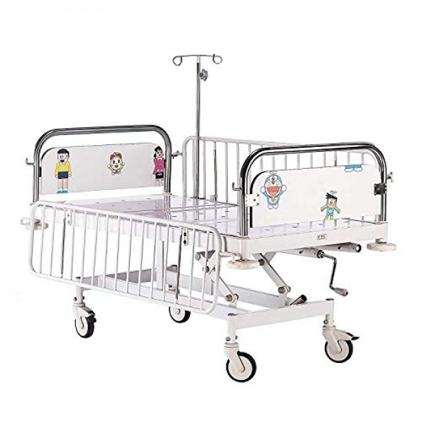 VMS Pediatric ICU Bed With Removable Stainless Steel Head & Foot Bow