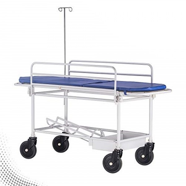 VMS Stretcher Trolley MS Framework & Stainless Steel Top