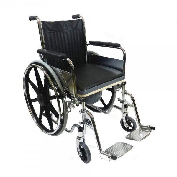 VMS Careline Deluxe Commode Wheelchair