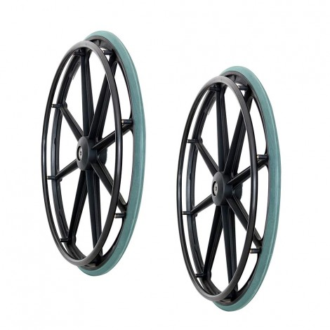 VMS Careline 24 inch Rear Wheelchair Wheels and tires (Set of 2 Pcs.)