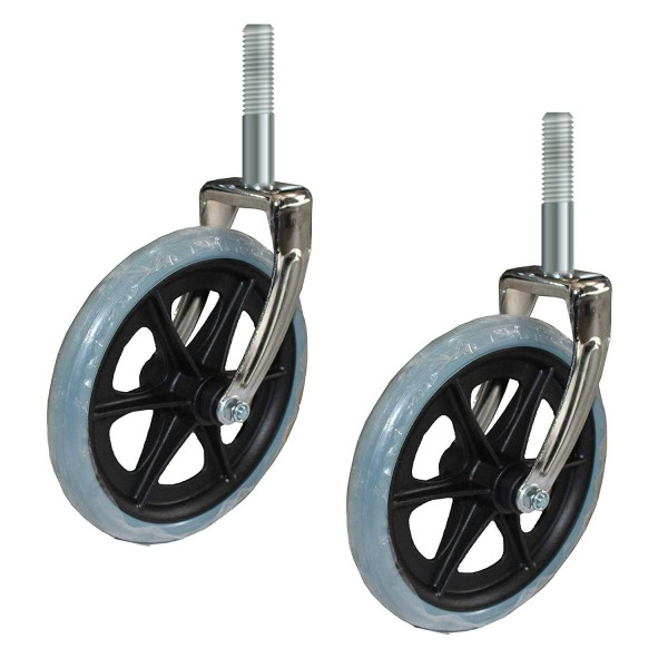 VMS Careline 8 inch Wheelchair front Wheels and tires with front fork (Set of 2 Pcs.)