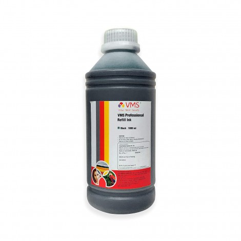 VMS Professional Black Refill Ink for HP, EPSON and All Inkjet Printers 1000 ML