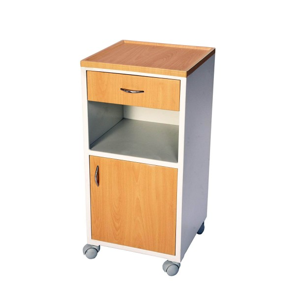 VMS Bedside Locker with Drawer & Cabinet Stainless Steel Top