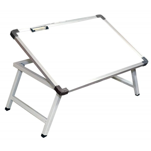 VMS OfficeBuddy Multi Purpose Foldable Laptop/Study Table with whiteboard top and paper holding clip