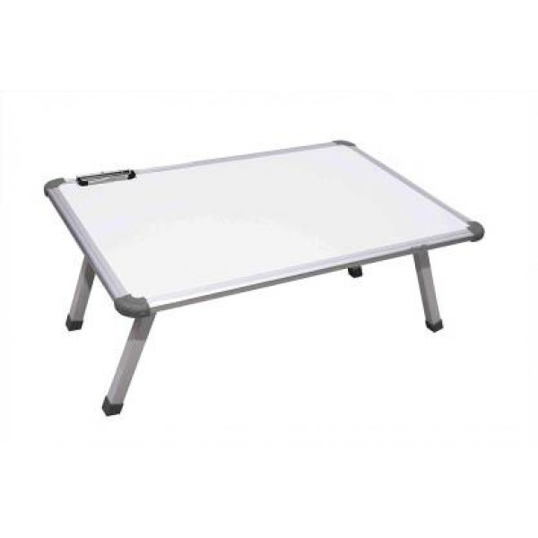 VMS OfficeBuddy Multi Purpose Fix Laptop/Study Table with whiteboard top and paper holding clip
