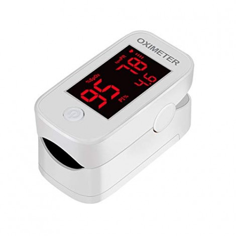 YIMI LIFE YM101 Pulse oximeter fingertip with Plethysmograph and Perfusion Index, Portable Blood Oxygen Saturation Monitor for Heart Rate and SpO2 Level, O2 Monitor Finger (Red) - Battery Not Included