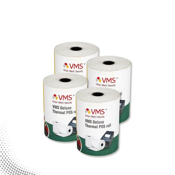VMS Deluxe Thermal Paper Roll / POS Roll 78mm x 50m (Pack of 4)