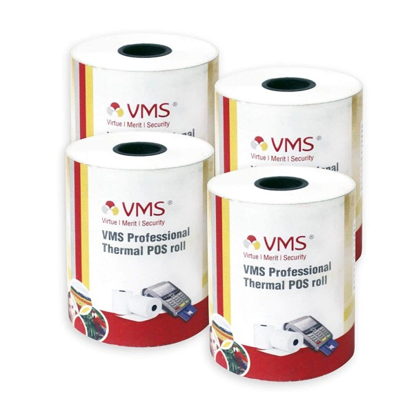 VMS Professional Thermal Paper Roll / POS Roll 55mm x 25m (Pack of 4)