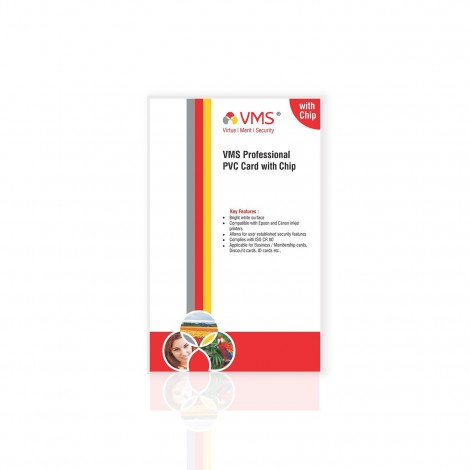 VMS Professional PVC Card with Chip - (25 Cards)