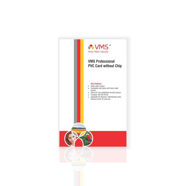 VMS Professional PVC Card without Chip - (25 Cards)