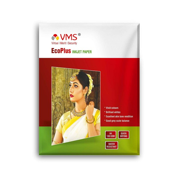 VMS Eco Plus 130 GSM A4(210X297 mm) Glossy Photo Paper