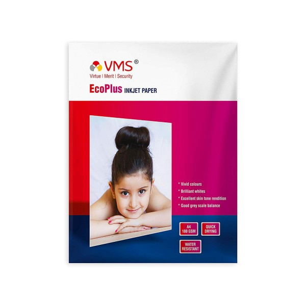 VMS Eco Plus 180 GSM A4 Glossy Photo Paper