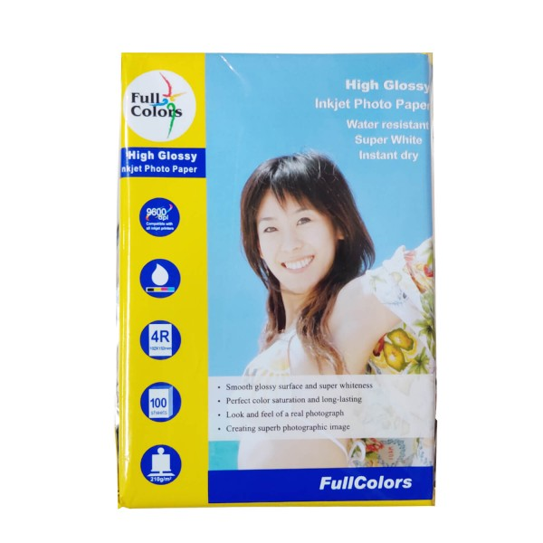 Full Colors 4R 210 GSM Glossy Photo Paper