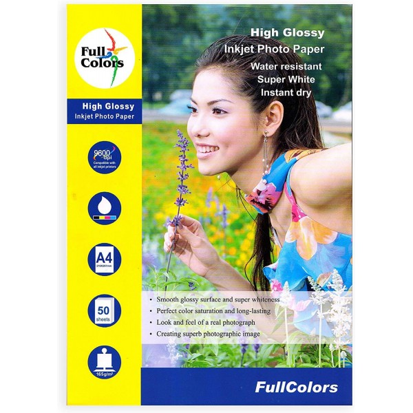 Full Colors A4 165 GSM Glossy Photo Paper
