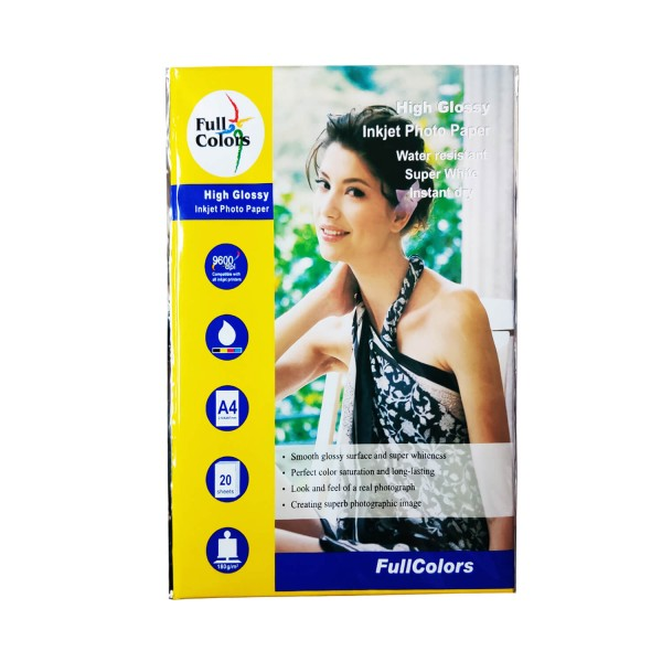 Full Colors  A4 180 GSM Glossy Photo Paper
