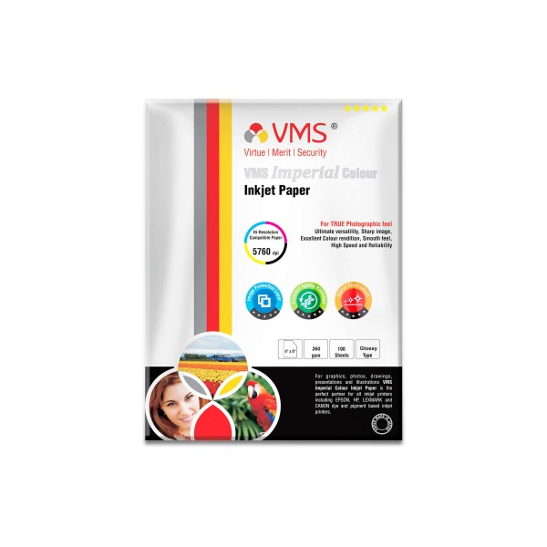 VMS Imperial 260 GSM 4R Glossy Photo Paper