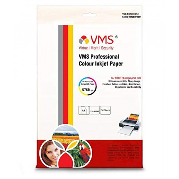 VMS Professional 220 GSM A4 Matte Photo Paper Double Side