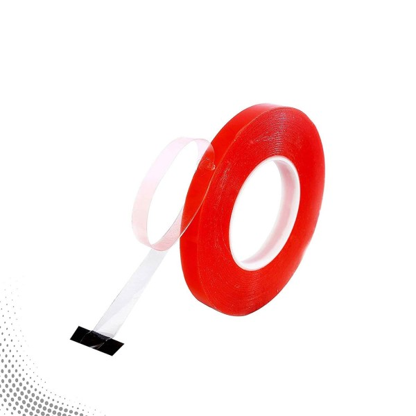 VMS Strong Acrylic Adhesive Clear Double Sided Red Tape 12mm x 45M