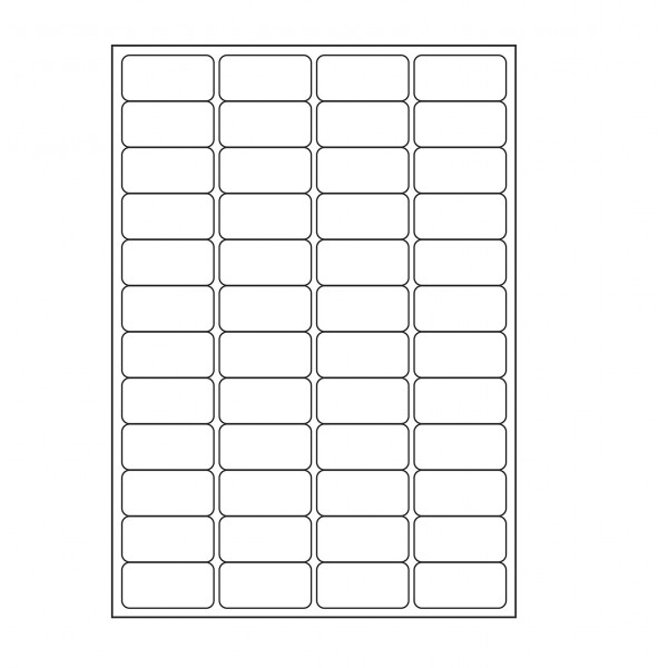 VMS Professional A4 Self Adhesive Paper Labels 100 Sheets (48 per Sheet) (Pack of 2)