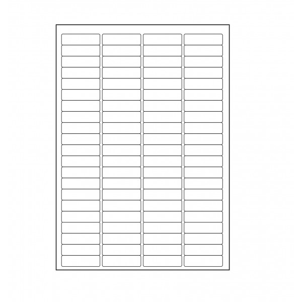 VMS Professional A4 Self Adhesive Paper Labels 100 Sheets (84 per Sheet) (Pack of 2)
