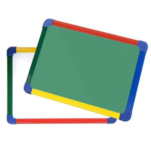 VMS OfficeBuddy 1x1.5 Double-Sided White & Chalk Board